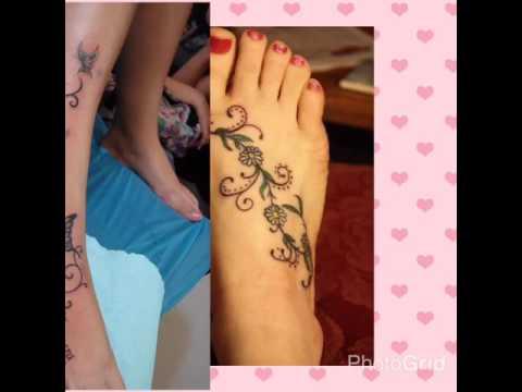 Tatuajes En Los Pies Para Mujeres Youtube