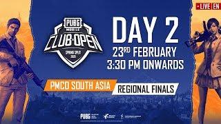 [EN] PMCO South Asia Regional Finals Day 2   Spring Split   PUBG MOBILE CLUB OPEN 2020