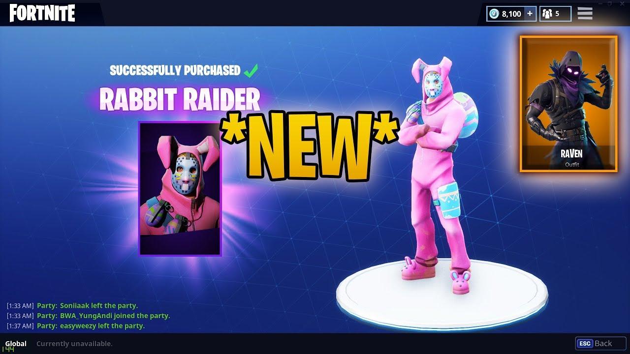 Brand new easter skin rabbit raider bunny brawler fortnite battle royale item shop - Fortnite bunny brawler ...
