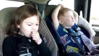 Heavy Metal Babies Singing in the Backseat / Baby Heavy Metal Child singing in the Car