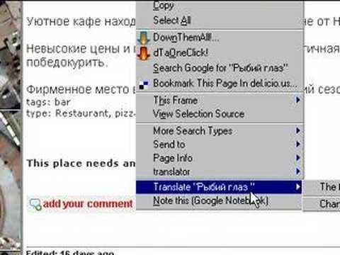 Translation Tools For Firefox Addon