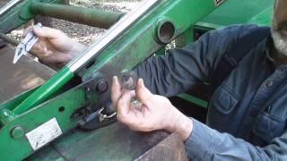John Deere 420 loader quick hitch rebuild