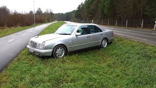 Я разбил машину Mercedes W210 I crashed my car