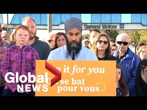 Canada Election: NDP Leader Jagmeet Singh Discusses Strategy For Retaining Jobs In The Auto Industry