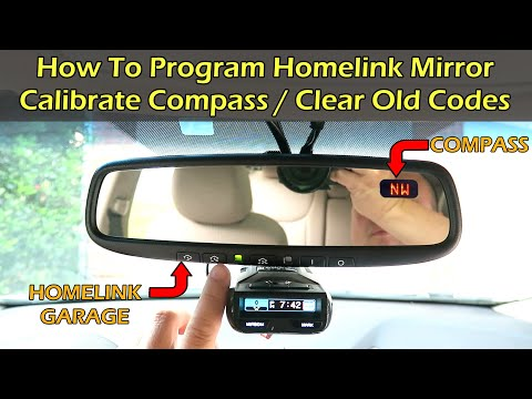 How To Program Homelink & Clear Old Codes & Calibrate Compass in Car