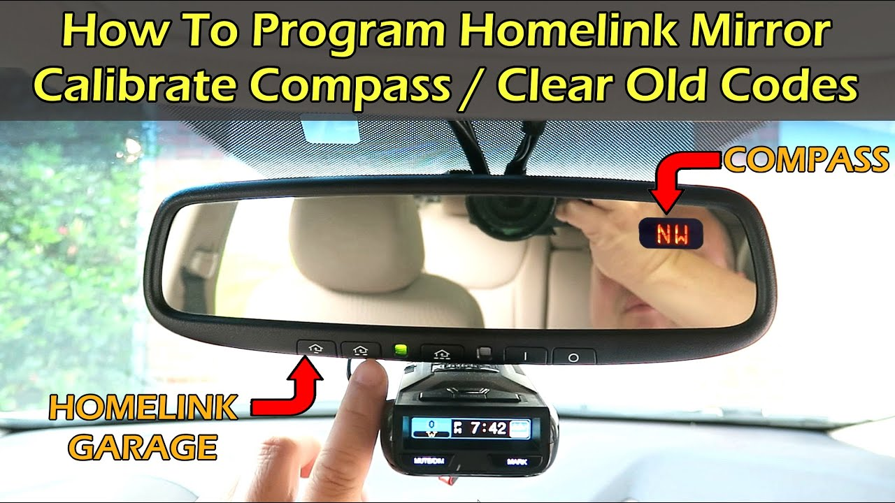 How To Program Homelink And Calibrate Compass In Car Youtube