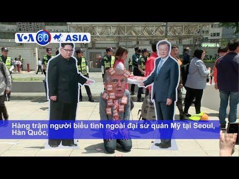 Biểu tình ở Seoul, cổ súy thượng đỉnh Mỹ-Triều (VOA)