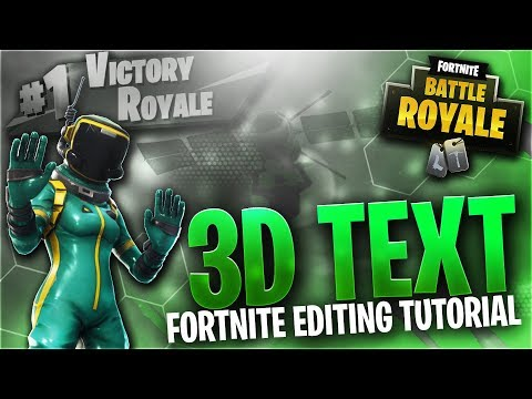 How To Edit Fortnite! Colourful 3D Text! (Fortnite Element 3D Tutorial)