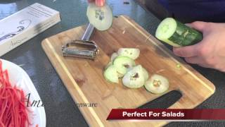 Video Instruction - PeeĮing Cucumber, slicing Cucumber.