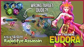 1 Hit Combo with 2.7k Thunderstruck Damage?! Rapid Eye Assassin Top 1 Global Eudora ~ MLBB