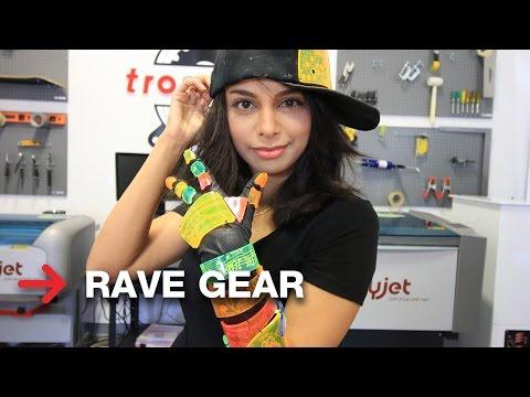 Cybergoth Clothes | Rave Gear | Laser Cutting Acrylic