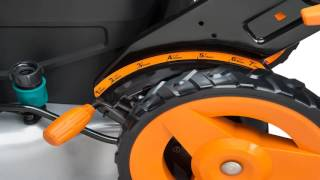 WORX WG770 36V 2 in 1 Cordless Mower with Single Lever Depth Setting 19 Inc