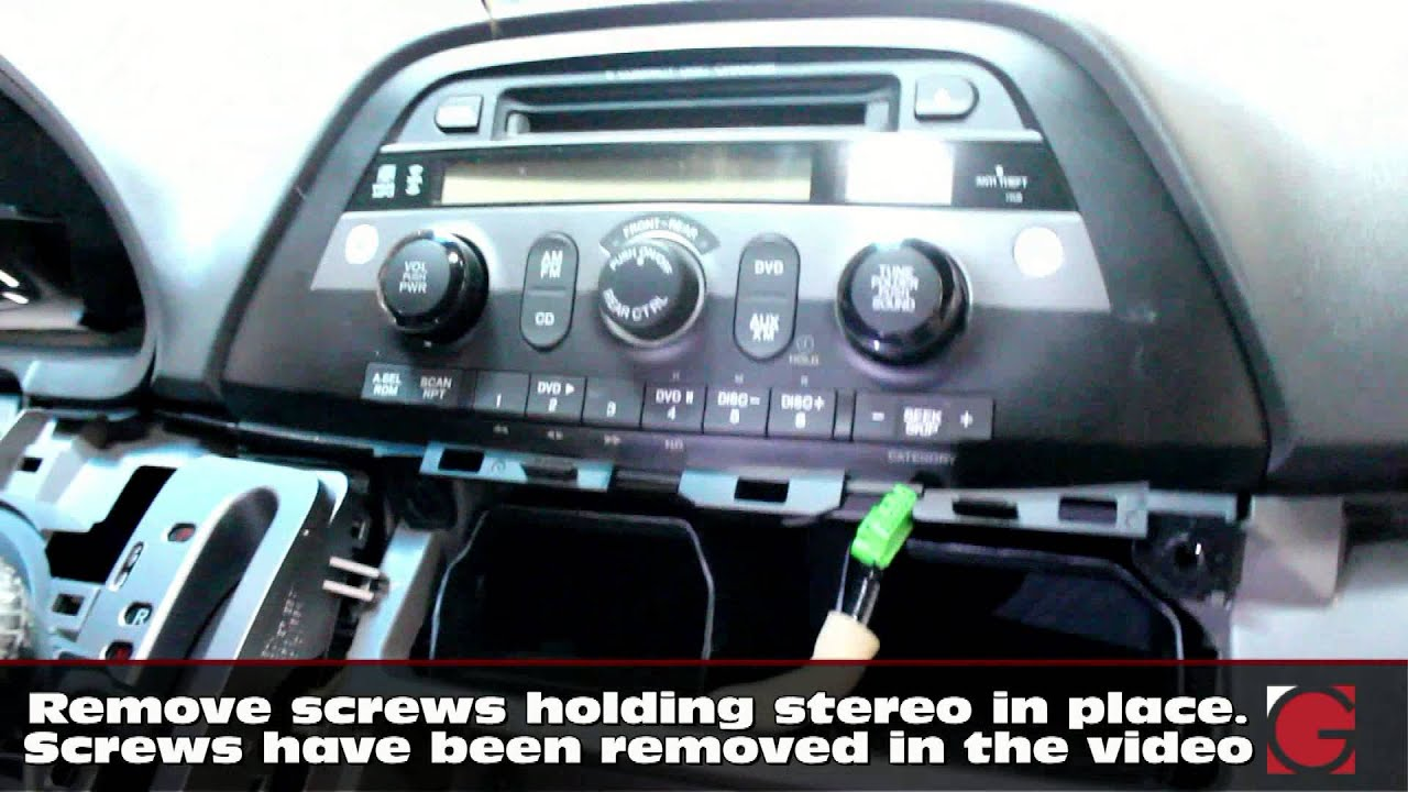 hight resolution of how to remove stereo install grom iphone usb bluetooth kit honda odyssey 2005 2006 2007 2008