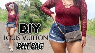diy louis vuitton belt bag fashion alert 2018
