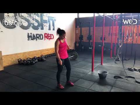 Claudia Rossi ROMA THROWDOWN 2018 WOD 1 scaled