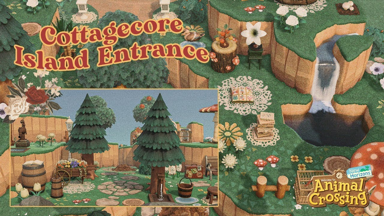 Cottagecore Island Entrance Speed Build   Animal Crossing ...