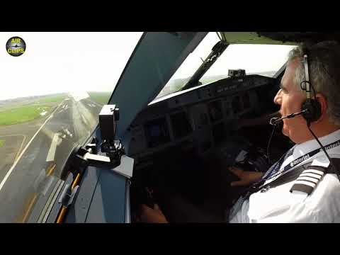 Captain Alex performing a fast and heavy Mexico City High Altitude Takeoff, Interjet A321 [AirClips]