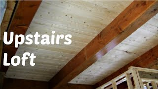 Upstairs Loft Flooring, Downstairs Ceiling for our Timber Frame Home