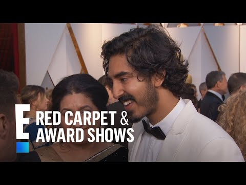 Dev Patel Cringe-Watches Himself on Screen at 2017 Oscars | E! Live from the Red Carpet