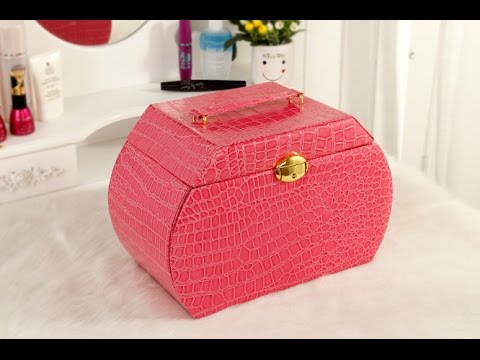 Customized Faux Leather Jewelry Box Gift Box with Lock