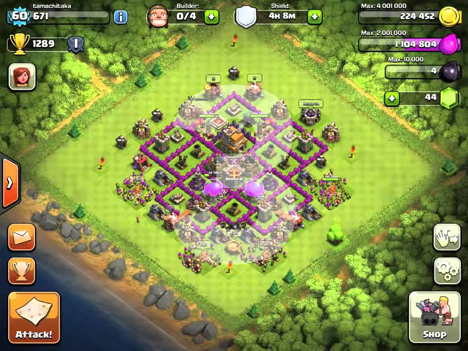 Best Clash Of Clans Top 5 Th7 Hybrid Bases New 2015 Youtube
