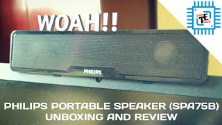 Philips Portable Bluetooth Speaker (SPA75B) Unboxing and Review | Best Budget Speaker? | TechEver