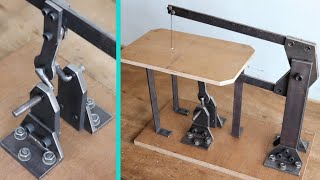 How To Make A Drill Powered scroll saw || Homemade scroll saw