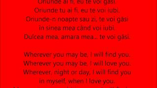 oriunde ai fi — o zone english romanian lyrics