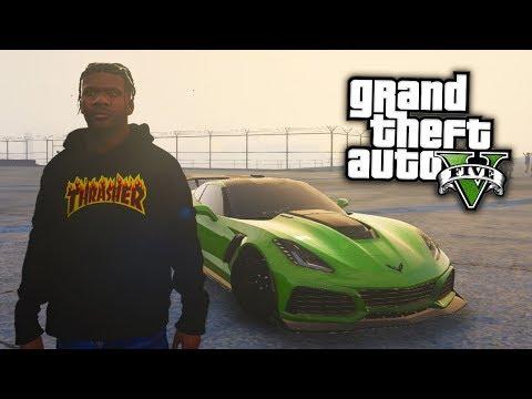 Corvette ZR Drags! GTA  Real Life Mod # (Real Hood Life )