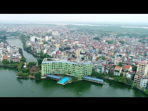 Splendid aerial view of Vietnam's capital Hanoi during APEC meeting