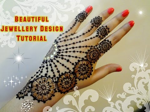 How To Apply Beautiful Jewellery Ornamental Henna Mehndi Designs For