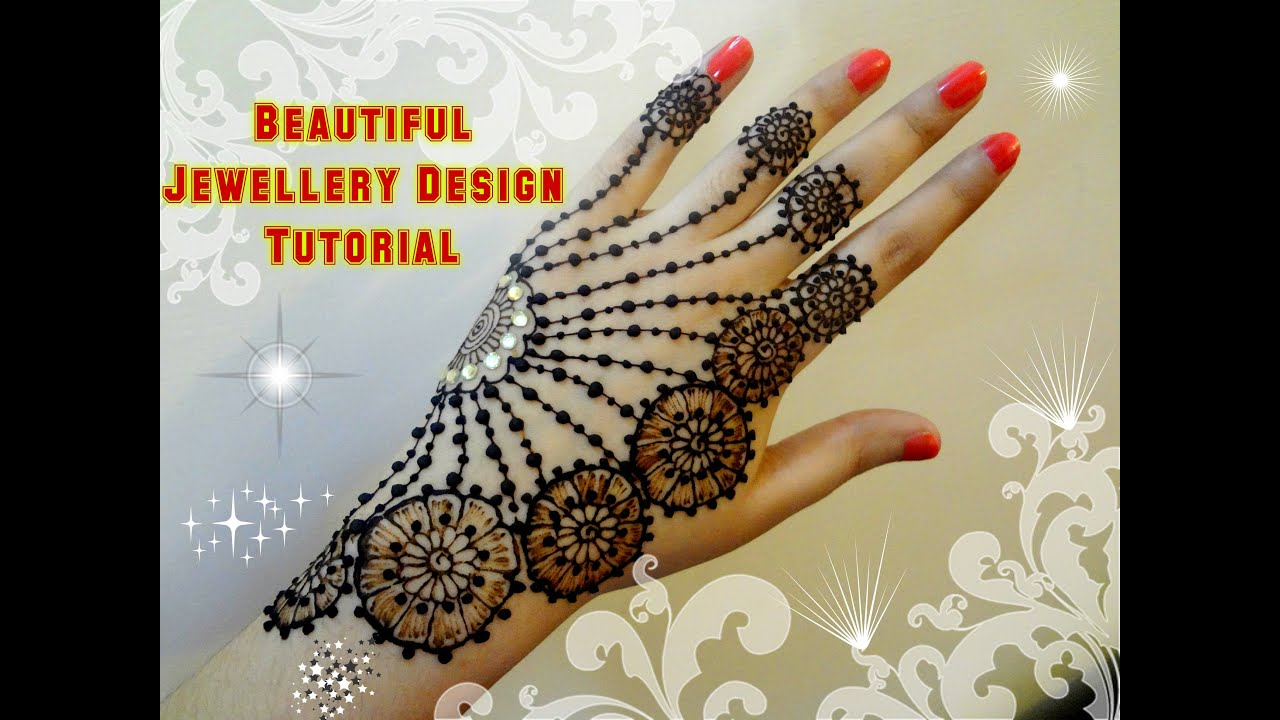 Mehndi Henna Buy : How to apply beautiful jewellery ornamental henna mehndi designs