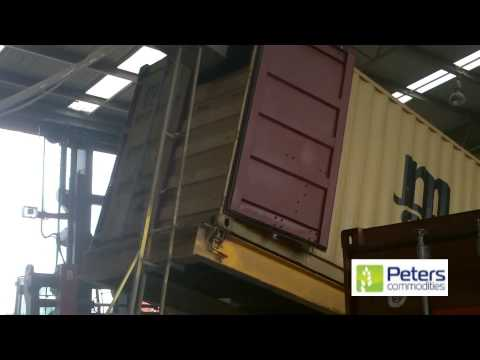 How to load bulk wheat into a 20 foot container