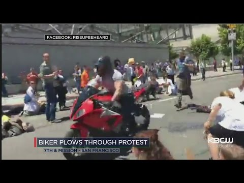 Motorcyclist Detained After Riding Through San Francisco Heathcare Protest