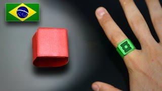 Origami: Anel Simples - Instruções em Português PT-BR