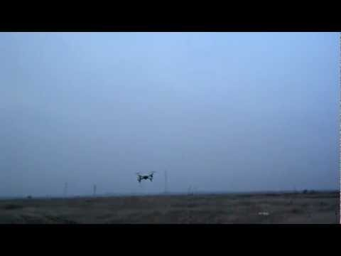 Quadcopter /w DJI Naza (forward flight and turn training)