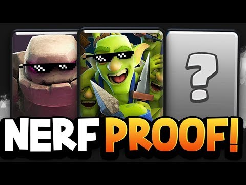 Top 10 Cards that WILL NEVER DIE in Clash Royale | NERF PROOF!