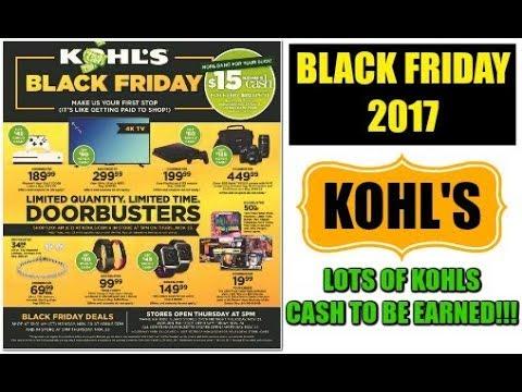 KOHLS BLACK FRIDAY AD 2017   Kohl's CASH GALORE!!! $$$$