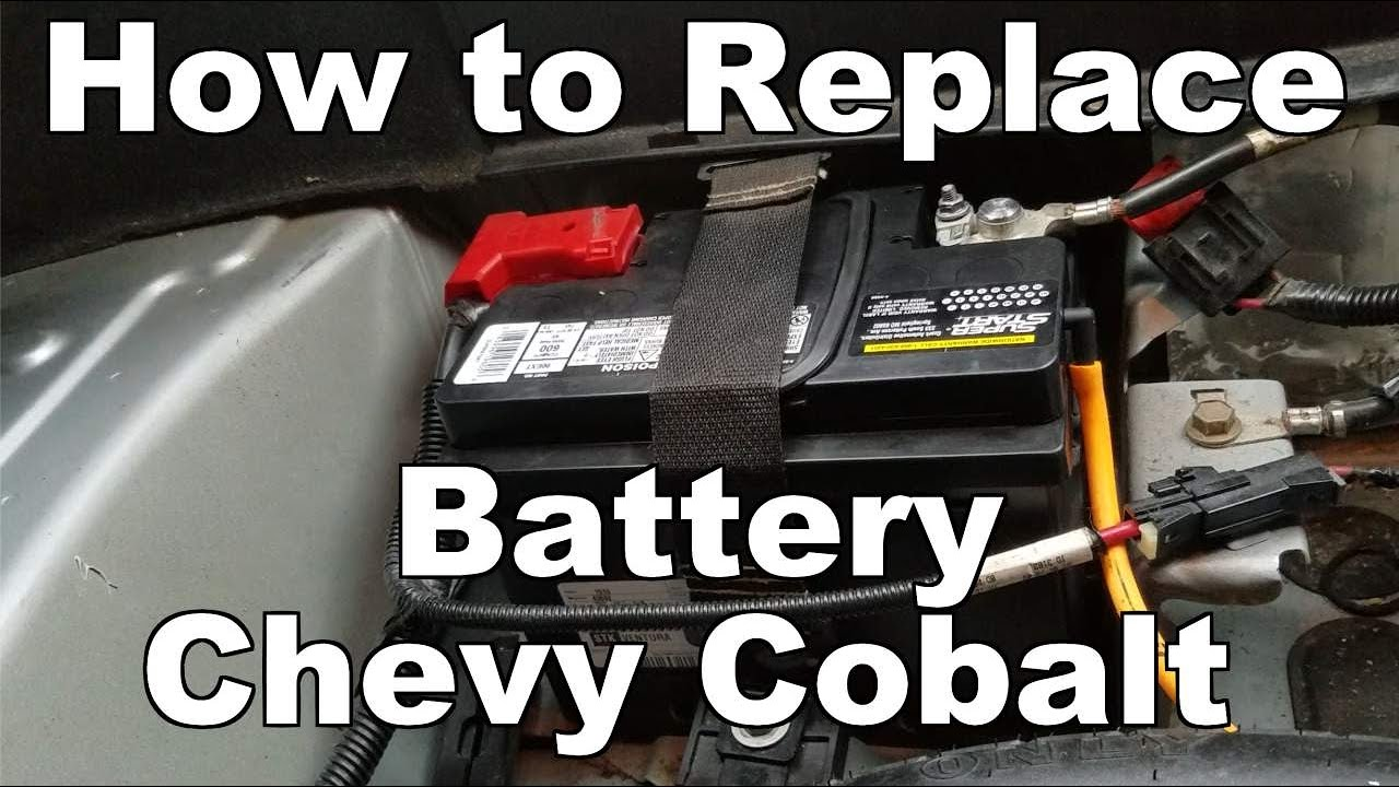 hight resolution of how to change battery on a chevy cobalt 2005 2010
