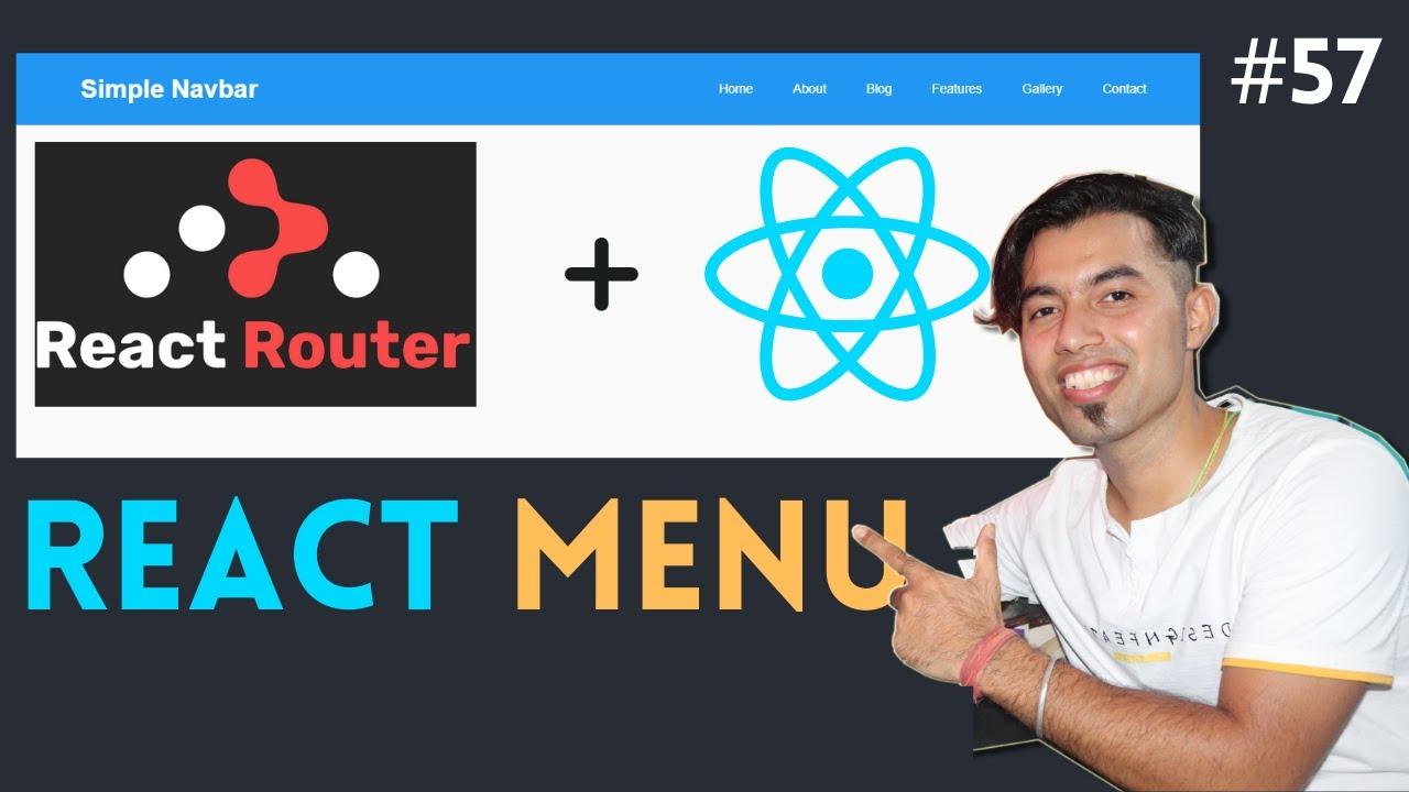 Create React NAVBAR / MENU using React Router in ReactJS in Hindi in 2020