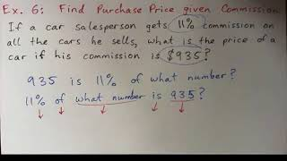 Sales Tax and Commission - Examples 5, 6