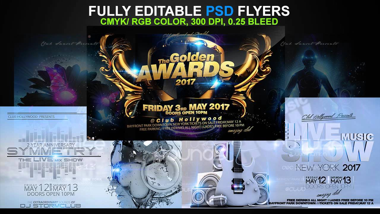 best party flyer psd templates youtube