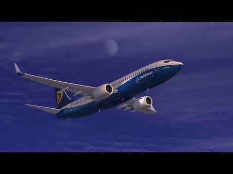 (FSX Steam)  Virtual Ryanair PMDG 737NG Bari LIBD - Malta LMML - Catania LICC  *Vatsim*
