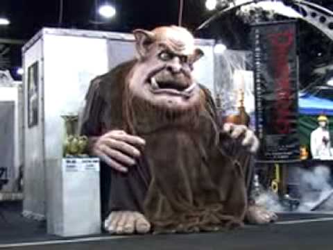 hauntedpropscom sleeping giant halloween animatronic youtube - Giant Halloween Decorations