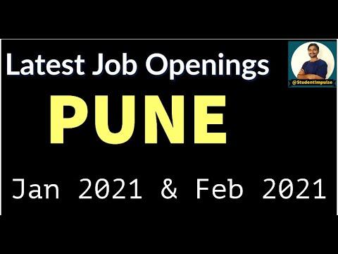 Jobs In Pune | Latest Job Openings | City in Maharashtra | January 2021 | February 2021