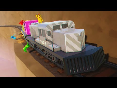 DERAIL THE TRAIN AND YOU FAIL!  Gang Beasts