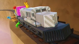 DERAIL THE TRAIN AND YOU FAIL! - Gang Beasts
