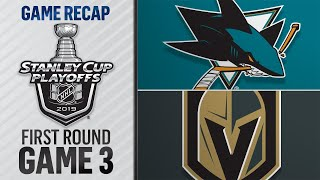 Stone's hat trick powers Golden Knights to Game 3 win