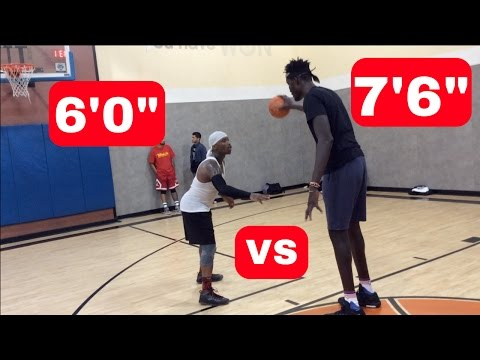 "Bone Collector vs 7'6"" NBA Player!"