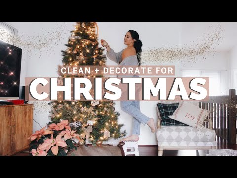 CHRISTMAS DECORATE WITH ME 2019   DIY Holiday Decor   Clean With Me
